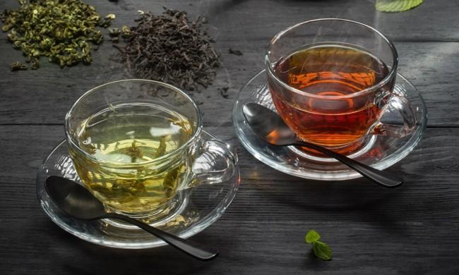 czarna i zielona herbata