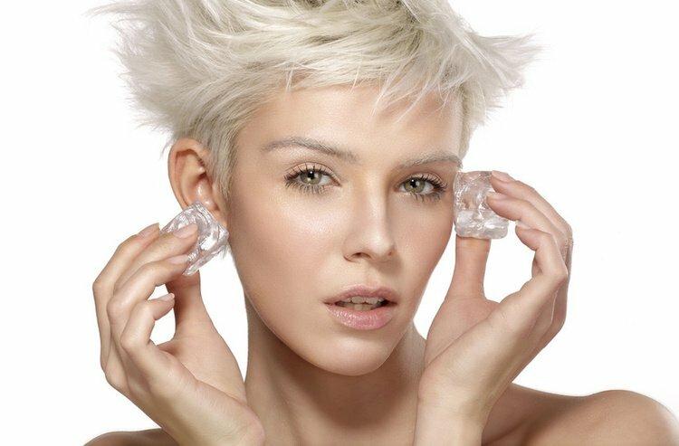 Stosowanie lodu jako kosmetyku do skóry twarzy