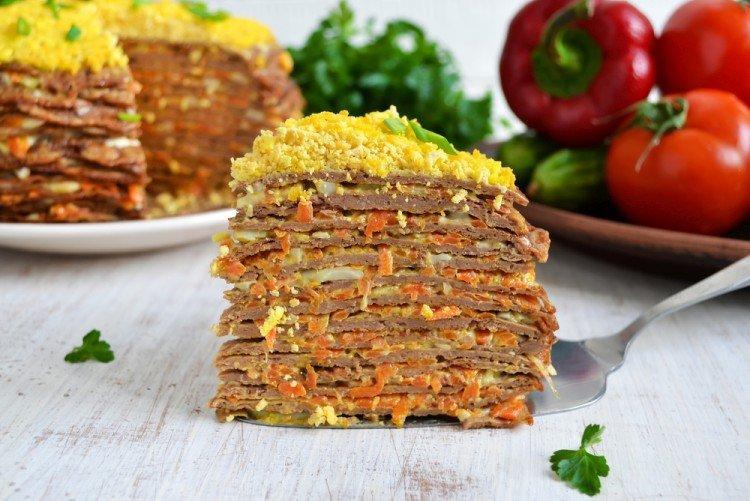 Ciasto wątróbkowe z marchewką i cebulą - przepisy kulinarne