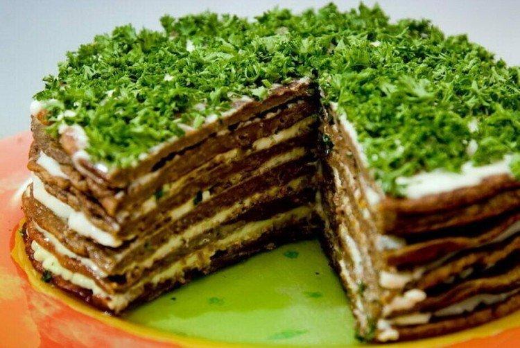 Ciasto wątróbkowe z czosnkiem i ziołami - przepisy kulinarne