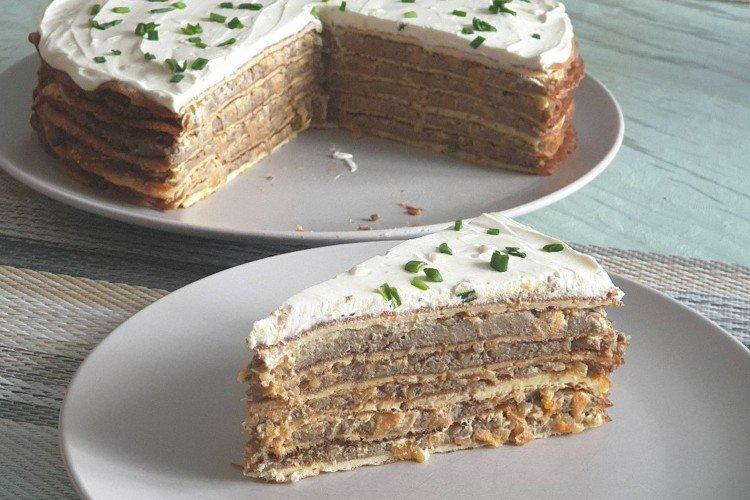 Ciasto wątróbkowe z ciastami waflowymi - przepisy kulinarne